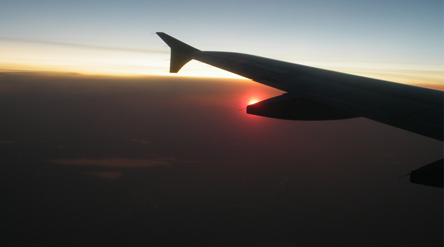 Sunset at 30,000 feet
